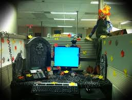 How To Decorate Your Cubicle For Halloween My Decorated Work Cubicle Pod From Last Year U0027s Halloween