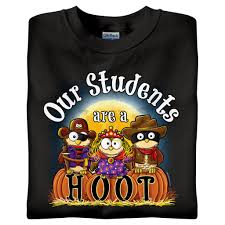 halloween t shirts our students are a hoot halloween t shirts