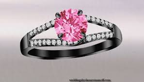 pretty wedding rings pretty mysterious black engagement rings with pink stones