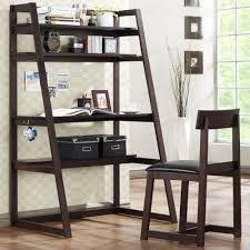 ladder bookcase with desk beautiful ladder shelf modern style