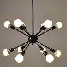 Chandelier With Edison Bulbs Industrial Edison Bulb Chandelier In Vintage Loft Style In Black