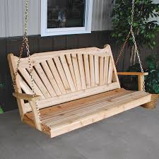 wood country cabbage hill 5 ft red cedar porch swing hayneedle