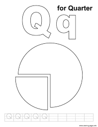 Q For Quarter Alphabet S0eff Coloring Pages Printable Coloring Pages Q