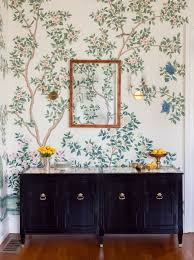 Hand Painted Wallpaper by A Stately Victorian Where Family Friendly Meets Formal Home Tour