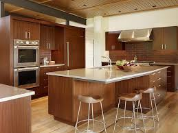 Bamboo Floors Kitchen Dark Wood Floors With Light Wood Cabinets Amazing Unique Shaped