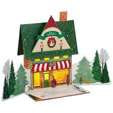 Disney Musical Christmas Tree Toy Shop Pop Up Musical Christmas Card With Light Greeting Cards
