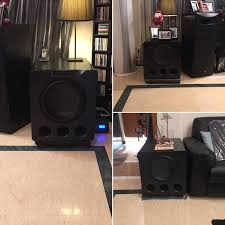 china home theater triple svs ported powered subwoofers feed a man u0027s bass addiction