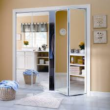 Glass Bifold Closet Doors Amusing Lowes Mirrored Closet Doors 39 For Your Interior Within