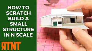 build a small home how to scratch build a small structure in n scale youtube