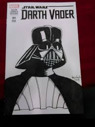 tattooed sky darth vader sketch cover commission