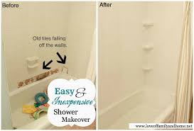 Installing Bathtub Shower Before U0026 After With Tub Surround Tutorial Love Of Family
