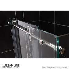 Sliding Glass Shower Door Handles by Dreamline Showers Enigma Sliding Shower Enclosure