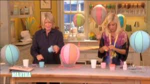 Tori Spelling Home Decor Video Papier Mache Balloons With Tori Spelling Martha Stewart