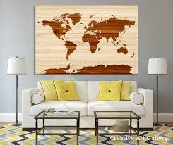 Wooden World Map Wall Art by Wooden Effect World Map Canvas Wall Art Rustic Canvas Art Print