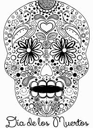 day of the dead skull coloring pages coloringsuite com