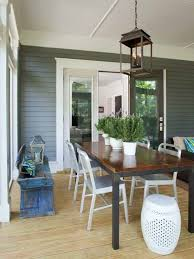 Sunroom Dining Room Ideas Dining Room Open Plan Sunroom Dining Area Using Brown Wooden Top