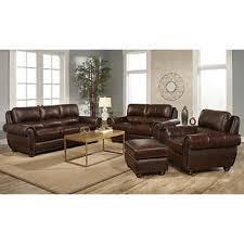 austin top grain leather sectional with ottoman abbyson living austin costco
