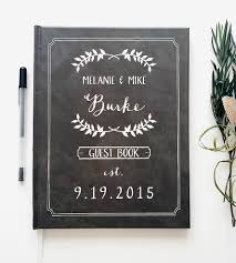 wedding guest books custom chalkboard wedding guest book cards stationery