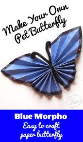 paper folding craft diy blue morphos crafts paper and paper