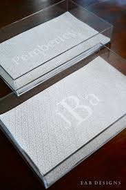 monogrammed trays eab designs diy monogrammed lucite tray