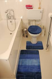 Non Slip Bathroom Rugs by Blue Bath Mat Set Bath Mat Pedestal Mat Toilet Seat Cover 3