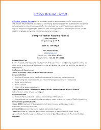Resume Sample Format For Freshers by 2017 Banking Resume Format Most Professional Resume Format