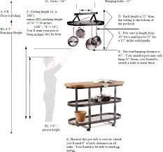 proper height to hang pictures helpful tips for selecting the right enclume pot rack enclume