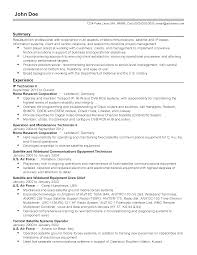 Electro Mechanical Technician Resume Sample Air Force Computer Engineer Sample Resume Resume Cv Cover Letter
