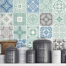 tile stickers kitchen splashback tile decals blue pastel
