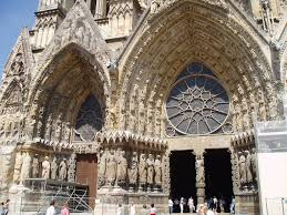 portals of west facade reims reims cathedral cathedrals and portal