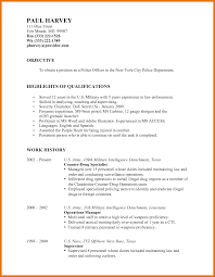 Security Officer Resume Template Law Enforcement Resume Objective Project Ideas Police Officer