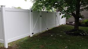 another new hartford vinyl fence install poly enterprises