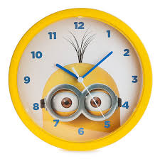 Childrens Bedroom Wall Clocks Minions 10 Inch Analogue Wall Clock Mns4 Amazon Co Uk Kitchen