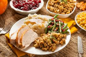 turkey thanksgiving dinner with mashed potatoes