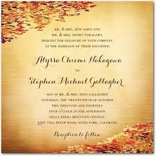 cheap fall wedding invitations fall wedding invitation ideas wedding invitation stores