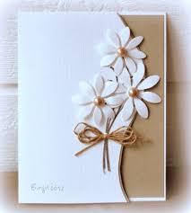 handmade cards handmade card clean and simple die cut daisies go the