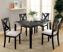 Distressed Black Dining Table 5 Pc Distressed Black Glenham Dining Room Table Set Cm3175t 5pk