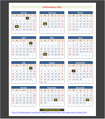 Market Holidays New York Stock Exchange Nyse Holidays 2015 Holidays Tracker