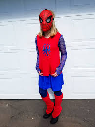 halloween spiderman costume diy how to make a spider man costume for girls