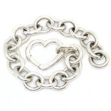 heart clasp bracelet images Tiffany co co open heart clasp toggle and bracelet necklace jpg