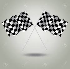 Checkered Flag Eps Checkered Flag For Racing Vector Two Finish Flag With Shadow