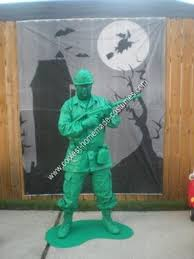 Army Halloween Costumes Coolest Homemade Green Army Man Halloween Costume Idea Army Men