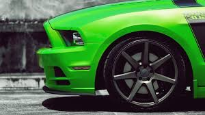 Green And Black Mustang Green Cars Ford Vehicles Ford Mustang Automotive Ford Mustang Boss