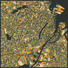 Copenhagen Map Map Digital Art By Jazzberry Blue