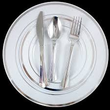 wedding silverware 180 dinner wedding disposable plastic plates silverware