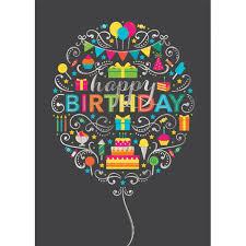 birthday balloon collage greeting card goimprints