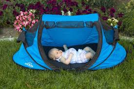 Baby Camping Bed Amazon Com Baby Nook Travel Bed And Beach Tent Blue Provides