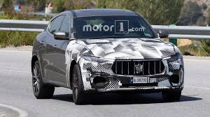 maserati levante blacked out maserati spied testing levante gts possibly with biturbo v8