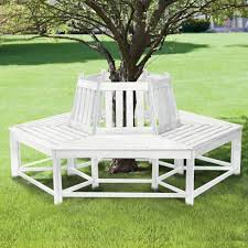 half circle wooden tree bench custom outdoor seating tree benches