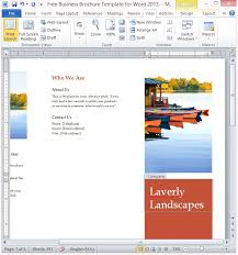 free business brochure template for word 2013